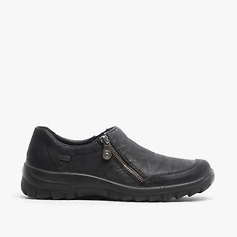ريكر L7152-00 السيدات الرمز البريدي أحذية عارضة الأسود