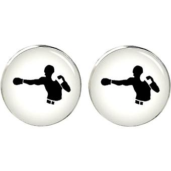 Bassin and Brown Boxer Cufflinks - White/Black