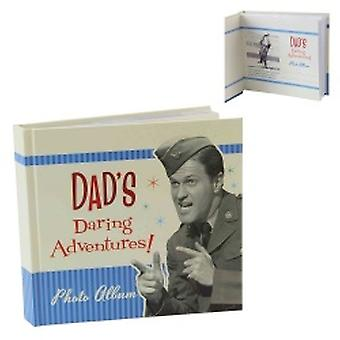 Retro Dad's Daring Adventures Novelty Photo Album