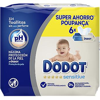 Dodot Sensitive Wipes 6 Packages 324 Units (Baby & Toddler , Diapering , Baby Wipes)
