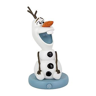 Disney Frozen II lamp Olaf with LED black/white, printed, made of plastic, with LED function.