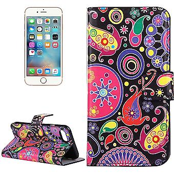 Para iPhone SE(2020), 8 e 7 Wallet Case, Colorful Acaleph Durable Protective Leather Cover