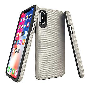 For iPhone XS & X Case, Armor Gold Slim Shockproof Protective Phone Cover