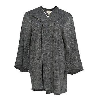 Style et Cie. Femmes plus Sweater 3/4 Sleeve Lantern Graphite Gray