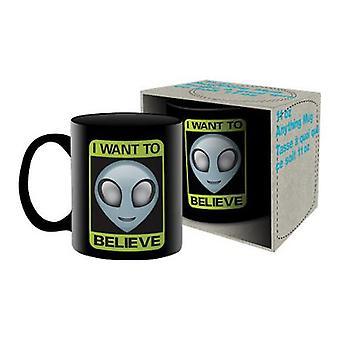 Aliens-haluan uskoa keraaminen muki