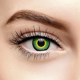 Green Werewolf Halloween Colored Contact Lenses (Daily)