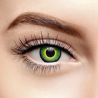 Grønn varulv Halloween fargede kontaktlinser (daglig)