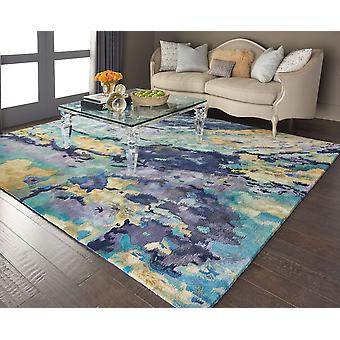 Prismatic PRS09 Silver Blue  Rectangle Rugs Modern Rugs