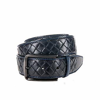 Beautiful Braid look, Blue Men's Belt