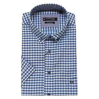 BAILEYS GIORDANO Giordano Blå Sjekk Skjorte 6307