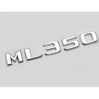 Zilver Chrome ML350 Flat Mercedes Benz Auto Model Numbers Letters Badge Emblem For M Class W163 W164 W166 AMG