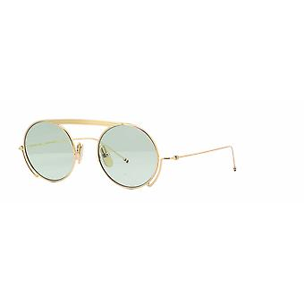 Thom Browne TBS111 01 White Gold/Mint Sunglasses
