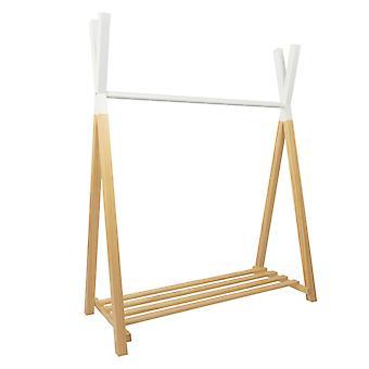 Stojak na ubrania Hugo w konstrukcji tipi, naturalny/ biały, 115x50x142 cm