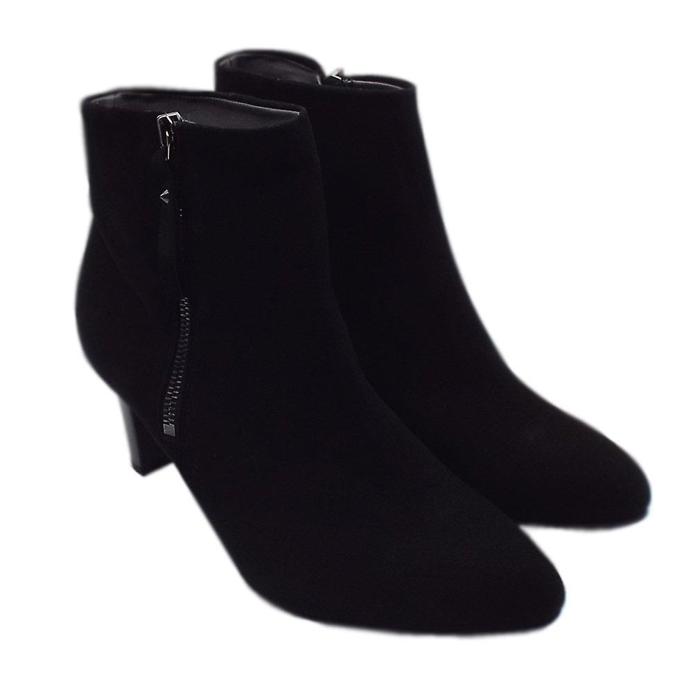 Peter Kaiser Marian Fashion Ankle Boot In Black Suede