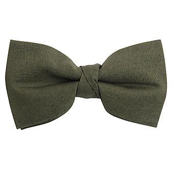 Dobell Mens Khaki Linen Bow Tie Pre-Tied