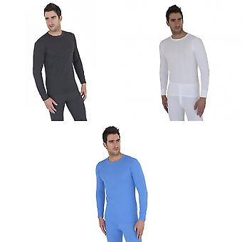 Mens Thermal Underwear Long Sleeve T Shirt Top Polyviscose Range (British Made)