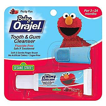 Baby orajel tooth and gum cleanser, fruity fun, 0.7 oz