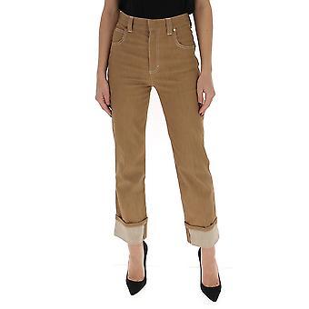 Chloé Chc20udp04154205 Women's Brown Cotton Pants
