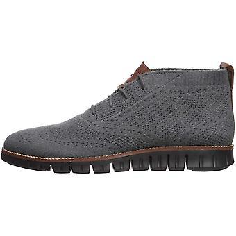 Cole Haan Men's Zerogrand Stitchlite Chukka Boot, Magnet Wool/Black, 10 M US