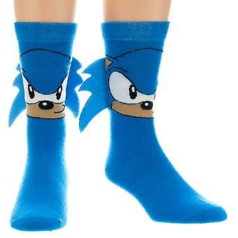 Sonic the Hedgehog crew sock met spikes-een maat
