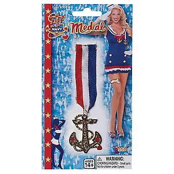 Bristol Novelty Womens/Ladies Lady In The Navy Medal