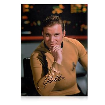 William Shatner ondertekend Star Trek foto: De kapitein