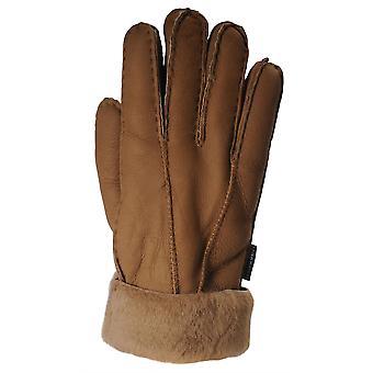 Nordvek Womens Sheepskin Gloves - Fold Back Cuff - Suede # 301-100