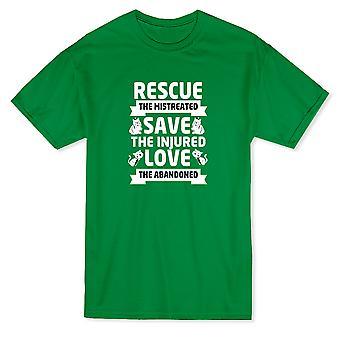 «Sauver la maltraité, sauver les blessés, aime les abandonnés» T-shirt homme