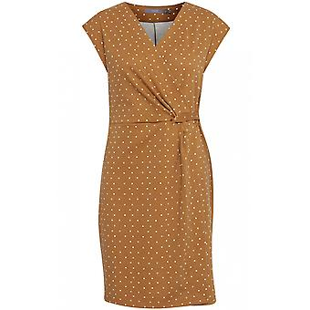 b.young Almond Spot Print Dress