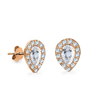 Earrings France 18K Gold and Diamonds - Rose Gold