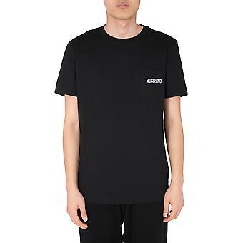 Moschino 071370401555 Men's Black Cotton T-shirt