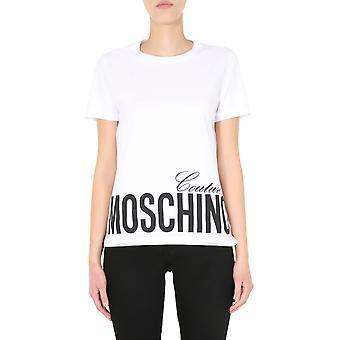 Moschino 070305401001 Women's White Cotton T-shirt
