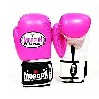 Morgan V2 Platinum Leather Sparring Gloves Fluro Pink
