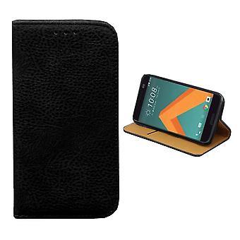 Colorfone HTC 10 Brieftasche Fall (SCHWARZ)