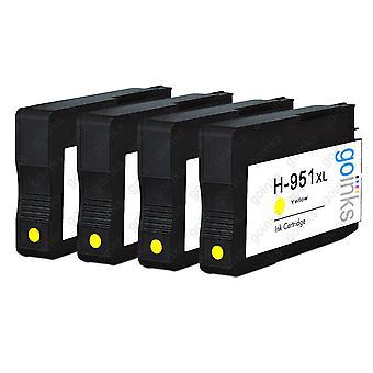 4 gulkompatible HP 951Y -printerblækpatroner (HP951XL)