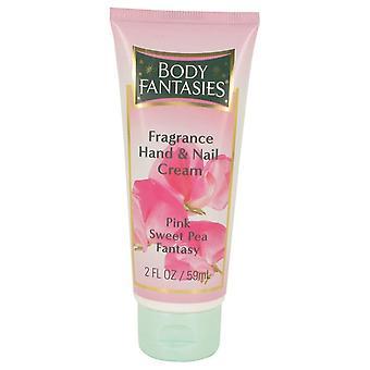 Body Fantasies Signature Pink Sweet Pea Fantasy Hand & Nail Cream By Parfums De Coeur 2 oz Hand & Nail Cream