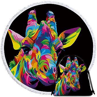 Farverig Giraffe strand håndklæde