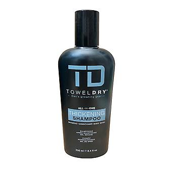 TD Towel Dry All in One Thickening Shampoo for Men 8.4 OZ