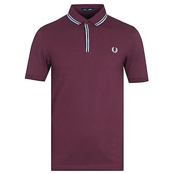 Fred Perry Tipped Placket Mahogany Polo Shirt