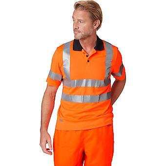 Helly Hansen Mens Addvis Hi Visibility Work Polo Shirt