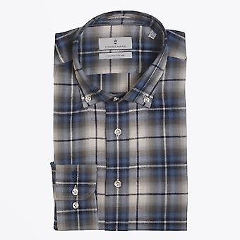 Thomas Maine  - Cotton Checked Shirt - Blue