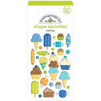 Doodlebug Design Sweet Boy Shape Sprinkles (27kpl) (6627)