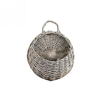 Hand Made Wicker Rattan Flower Basket Green Vine Pot