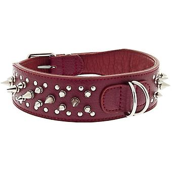 Ferribiella Leather Spikes Collar 2,5X58Cm