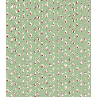 "Craft Consortium Decoupage Papers 13.75""X15.75"" 3/Pkg-Tossed Roses Green"