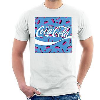 Coca Cola Square Rétro 80s Homme-apos;s T-Shirt