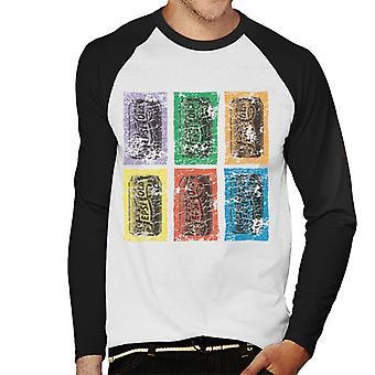 Pepsi Cola Rétro 1940s Can Pop Art Men-apos;s Baseball Long Sleeved T-Shirt