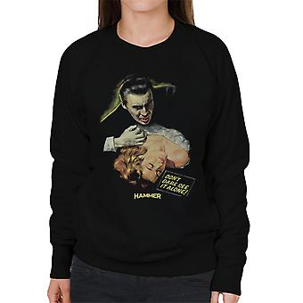 Hammer Dracula Dont Dare See It Alone Poster Women's Sweatshirt