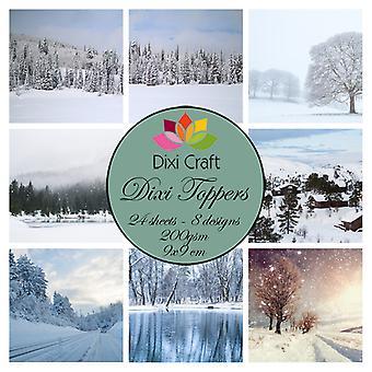 Dixi Craft Vinter Landskap 9x9cm Toppers