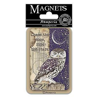 Stamperia Owl 8x5.5cm Magnet